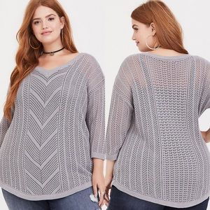 Torrid | Pointelle Tunic Sweater